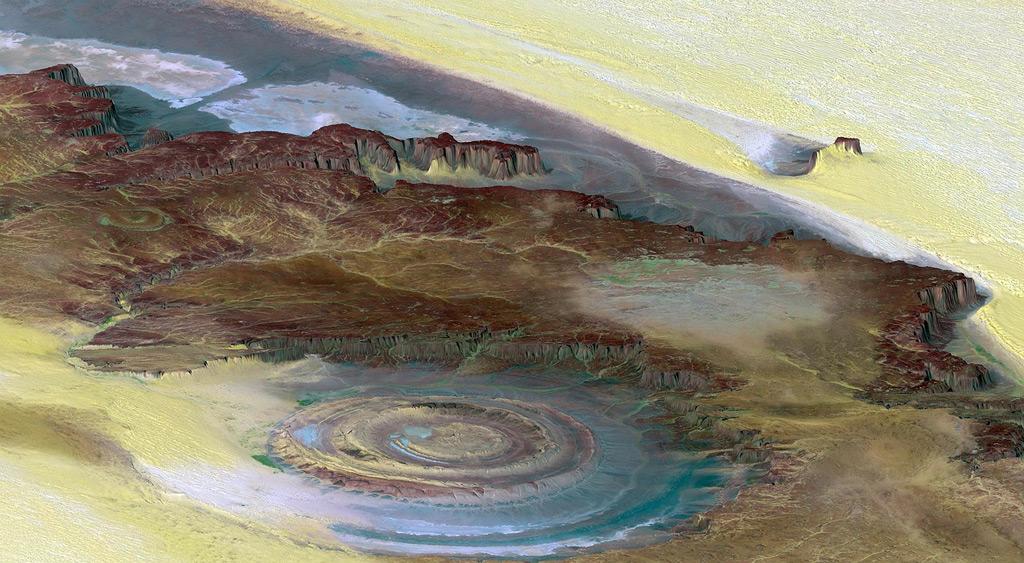 Фото: Глаз Сахары, Мавритания