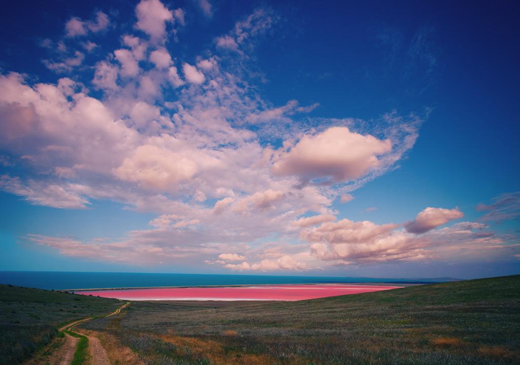 Фото: Озеро Хиллиер, Австралия