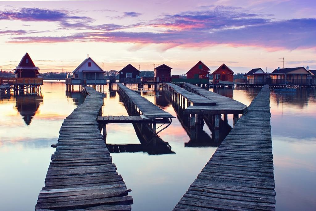 Фото: Венгерская рыбацкая деревня