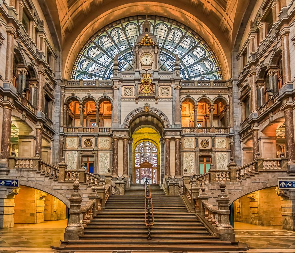 Фото: Antwerpen Centraal, Антверпен, Бельгия 10 самых красивых железнодорожных вокзалов мира 10 самых красивых железнодорожных вокзалов мира antwerp belgium