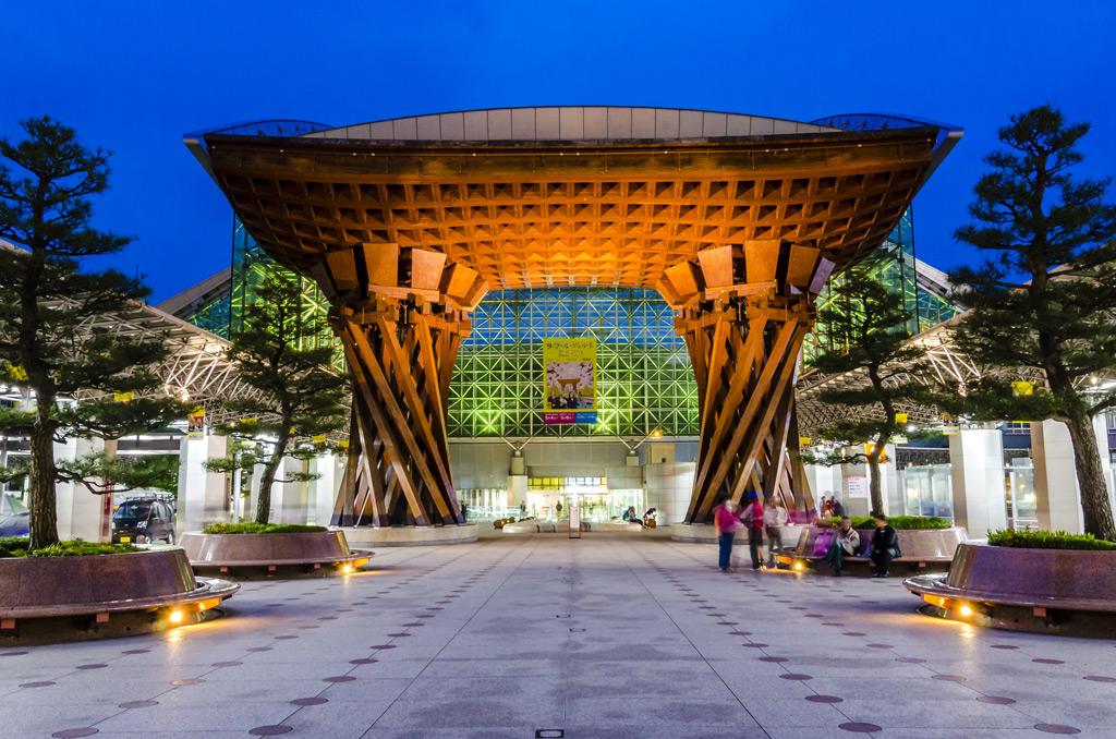 Фото: Kanazawa Station, Канадзава, Япония 10 самых красивых железнодорожных вокзалов мира 10 самых красивых железнодорожных вокзалов мира kanazawa japan