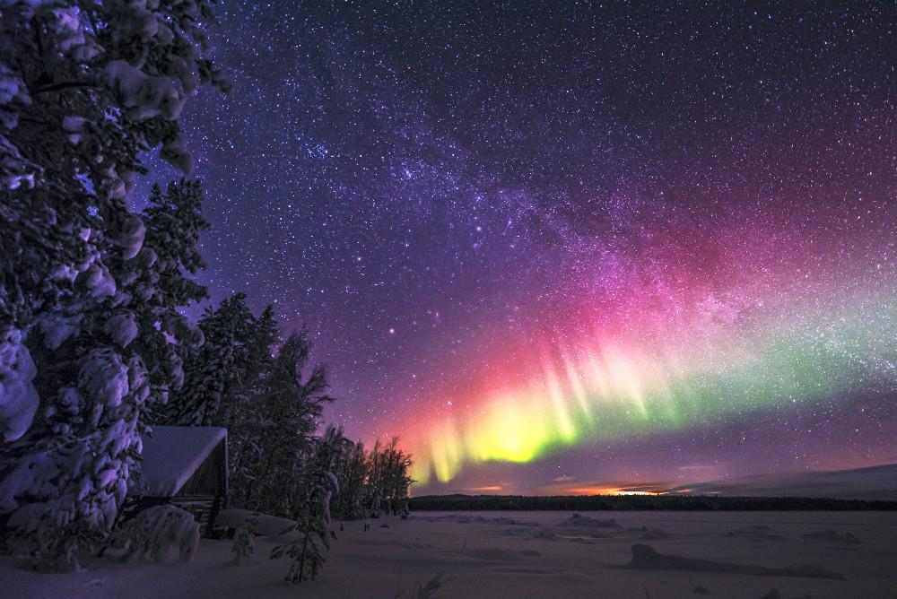 Фото: Северное сияние в Архангельске