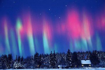 Фото: Северное сияние в России
