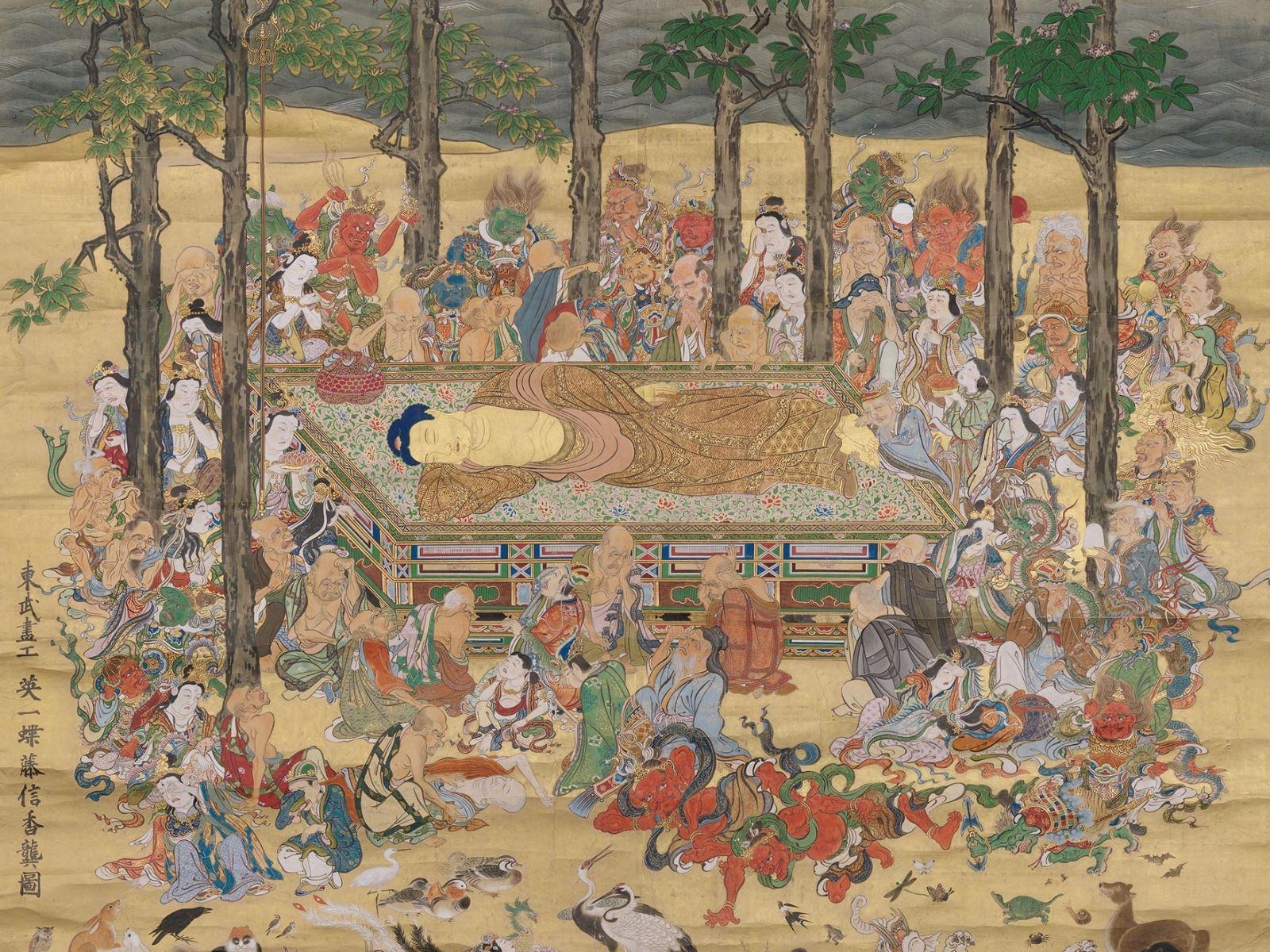 Фото: Полотно «Смерть Будды»