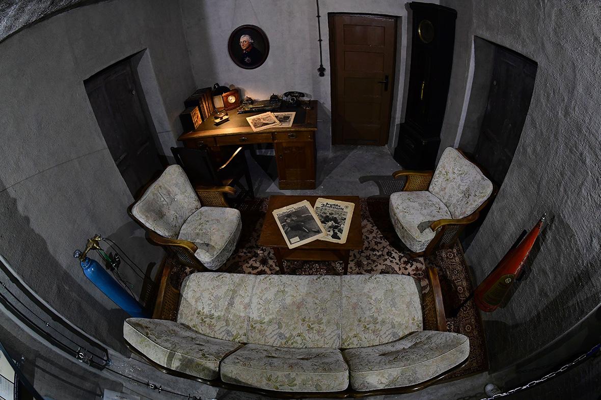 Фото: Экспозиция воссозданного бункера