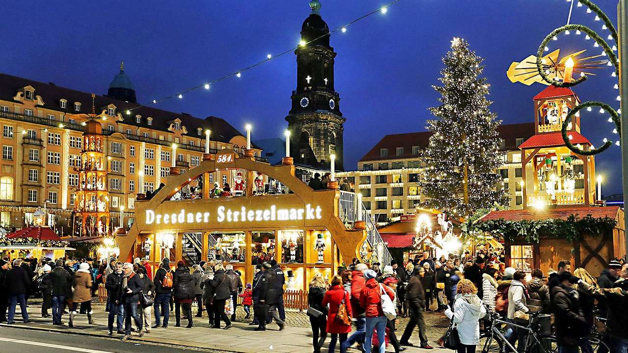 Фото: Ярмарка в Дрездене