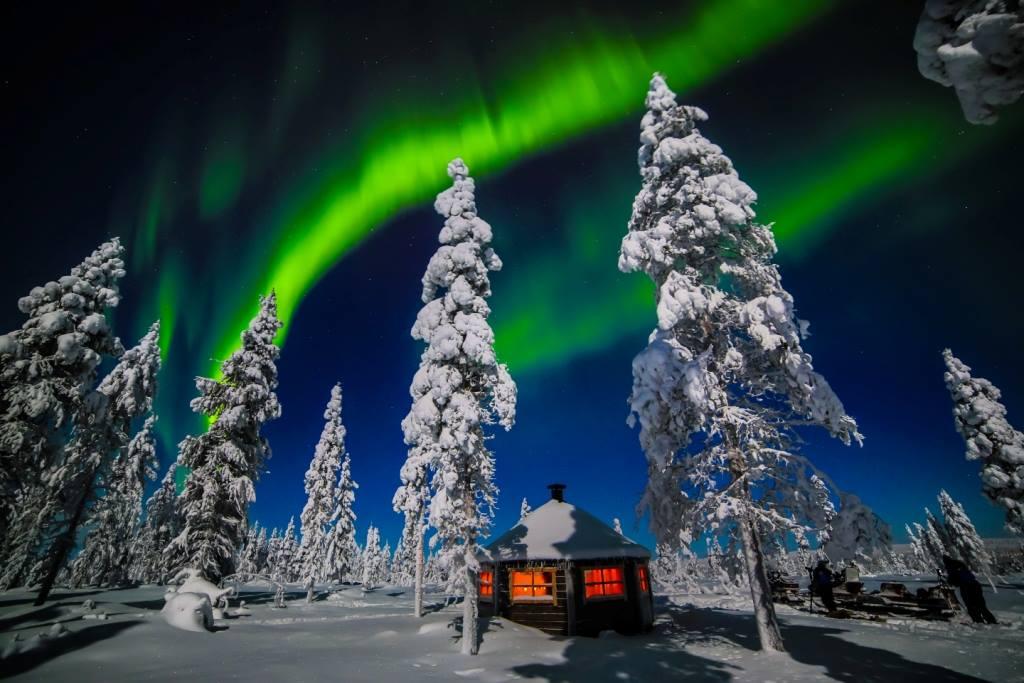 Фото: Северное сияние в Финляндии