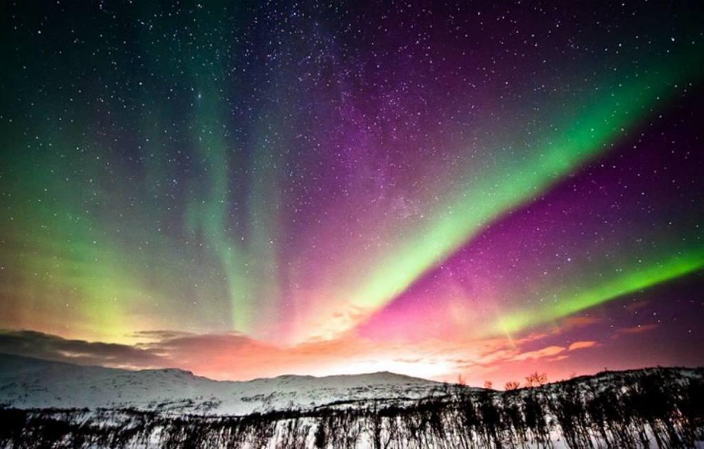Фото: Северное сияние в Норвегии