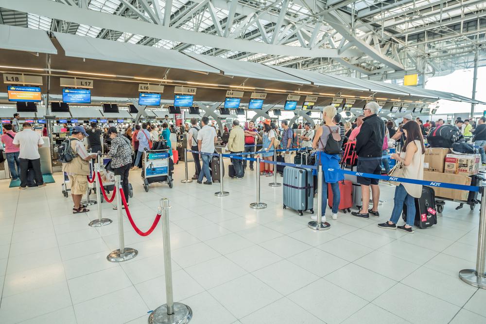 Фото: Регистрация в аэропорту