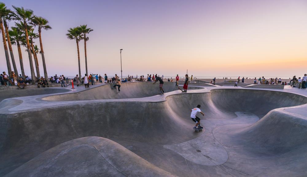 Фото: Скейт-парк в Калифорнии
