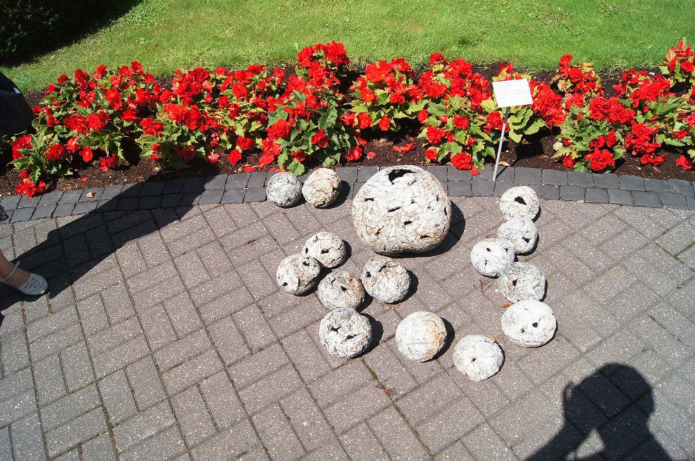 Фото: Цветы и скульптура