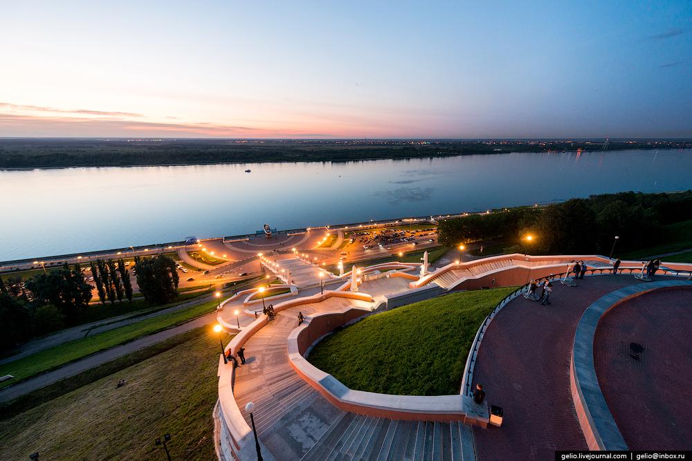 Photo: Chkalovskaya stairs