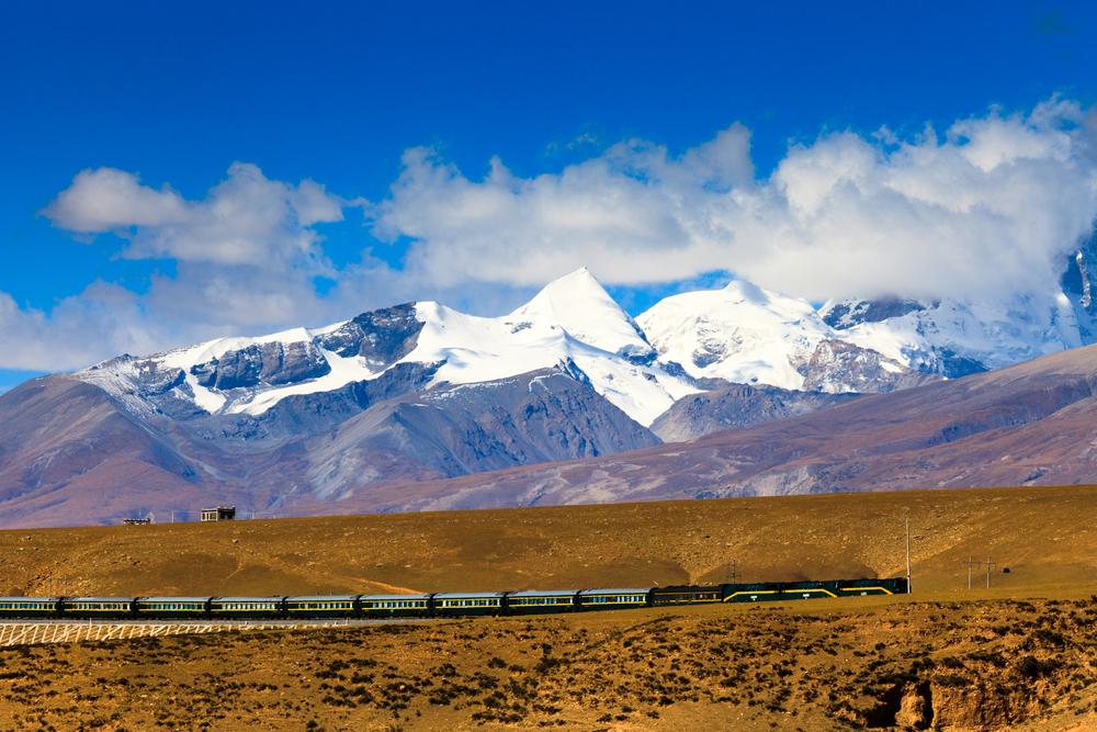 Фото: Поезд в Тибете