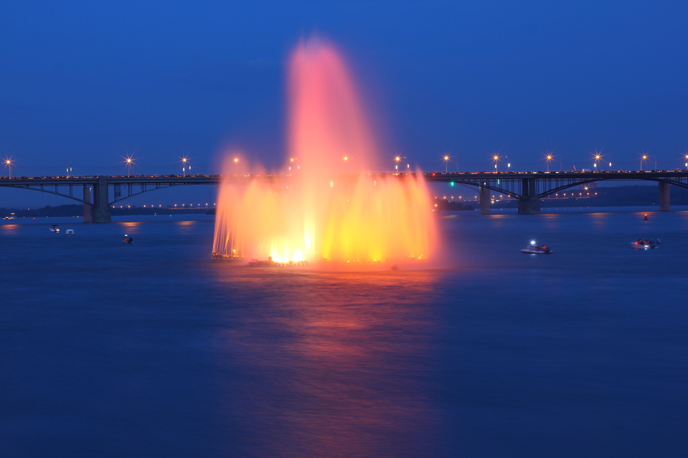 Photo: Floating fountain
