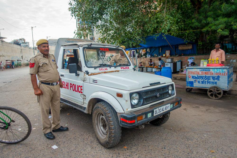 Фото: Инспектор дорожной полиции в Индии