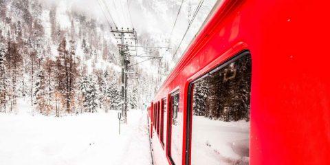Фото: Поезд зимой
