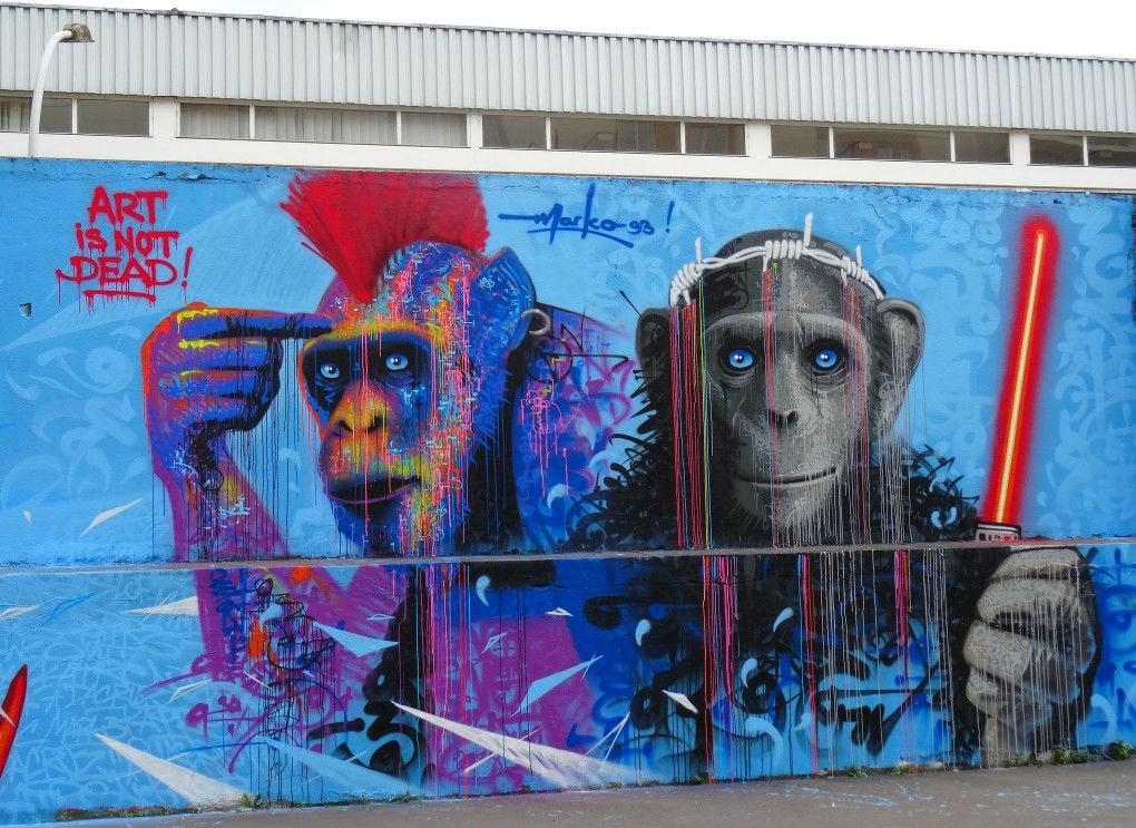 Фото: Стрит-арт в Париже