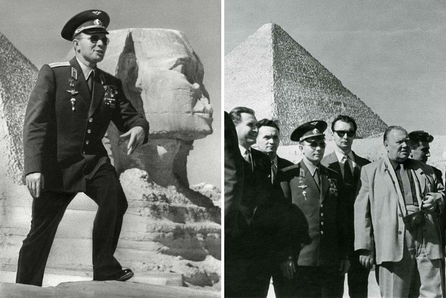 Фото: Гагарин в Египте