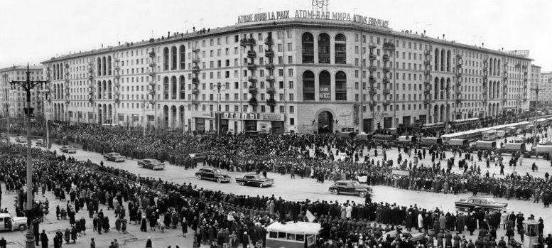 Фото: Гагарин в Москве