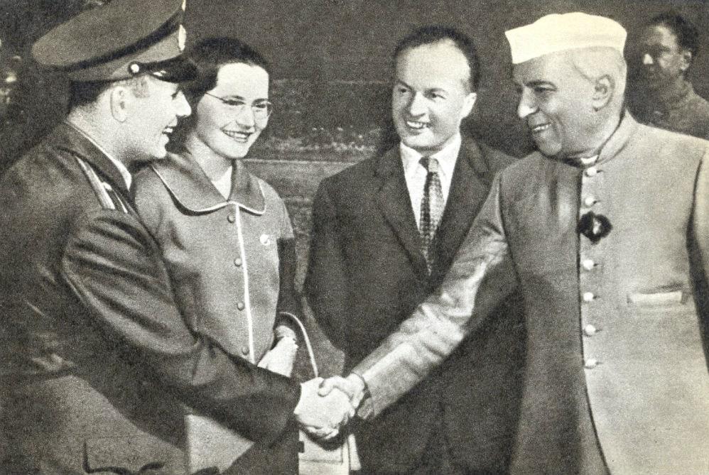 Фото: Гагарин в Индии