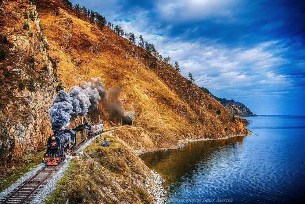 Фото: Кругобайкальской железная дорога