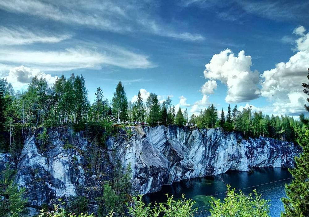 Фото: Мраморный каньон Рускеала
